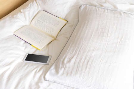 Image of reading in bed