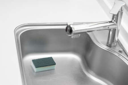 Image of cleaning the kitchen sink Stock fotó