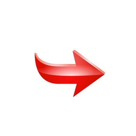 red arrow. Vector. Ilustração