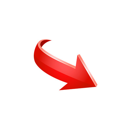 Red arrow vector icon. Illustration