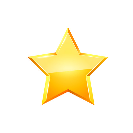 Gold star vector. Ilustrace