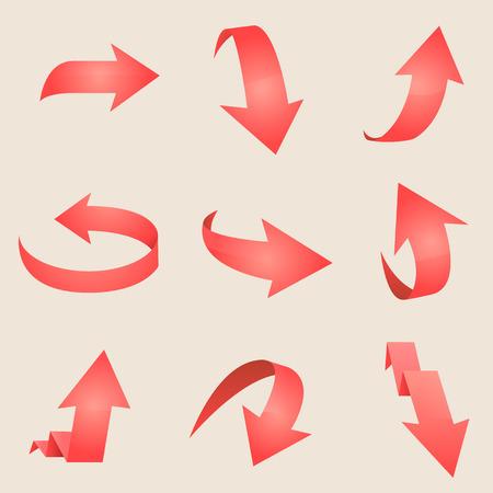 Red arrow. Vector Ilustração