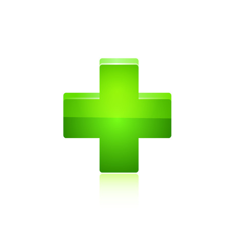Green cross. Vector