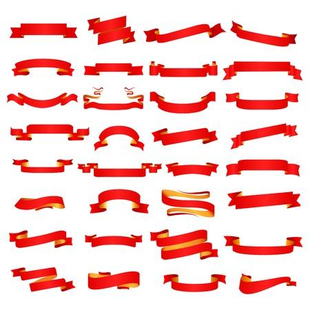 Ribbon banner set. Vector Illustration