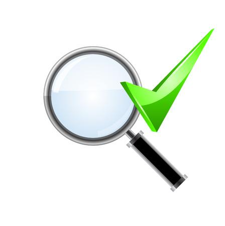 search icon. Vector. Иллюстрация