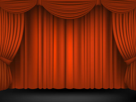 classical theater: Theater scene set with red.