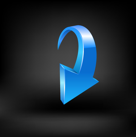 Blue arrow. Vector Illustration