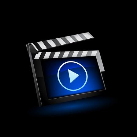 film camera: Vector illustrator of media player icon.