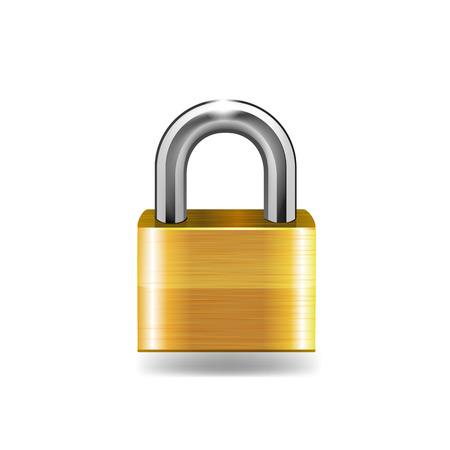 Lock icon vector illustration. Ilustração