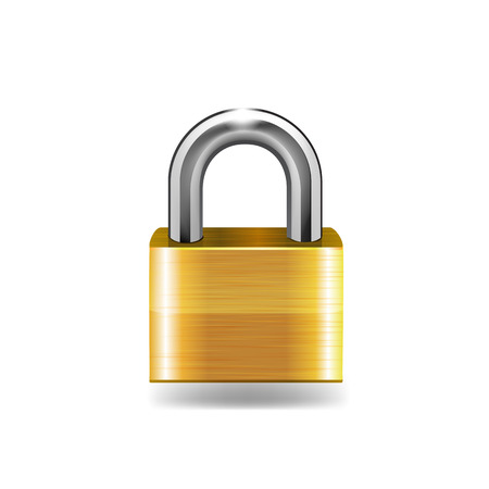 padlock: Lock icon vector illustration. Illustration