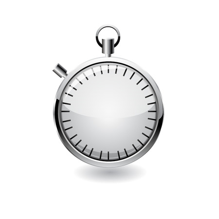 Vector stop watch, realistic illustration. Ilustração