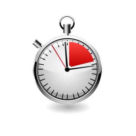 cronometro: Cron�metro vector, ilustraci�n realista