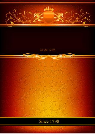 Decorative vector frame. Illustration