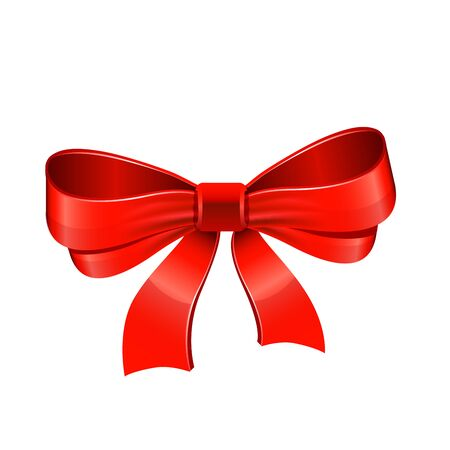 bow ribbon: Red bow. Vector