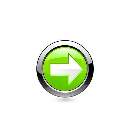 sign up icon: Button arrow. Vector Illustration