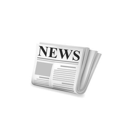 newsprint: Newspaper icon. Vector