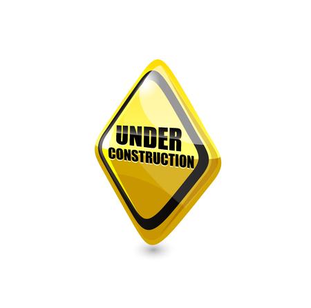 overhaul: Under construction sign. Vector