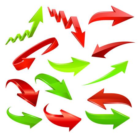 arrow down: Arrow icon set. Vector