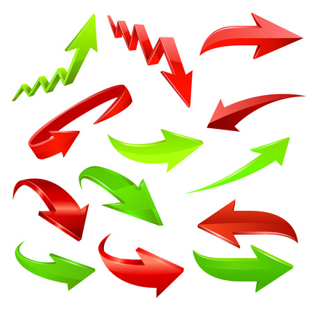 Arrow icon set. Vector