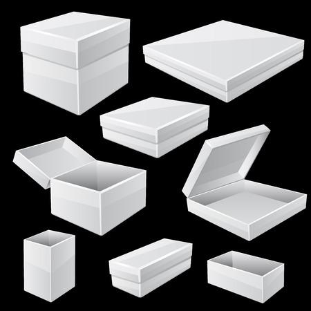 white boxes: White boxes Vector