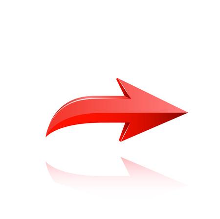 Red arrow vector. Vettoriali