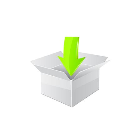 vector download: Vector download icon Illustration