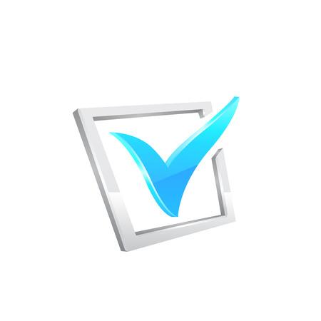 yes check mark: Vector blue checkmark.