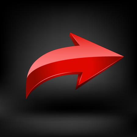 Red arrow. Ilustração