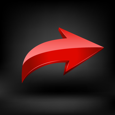 cursor arrow: Red arrow. Illustration