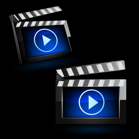 blockbuster: illustrator of media player icon.