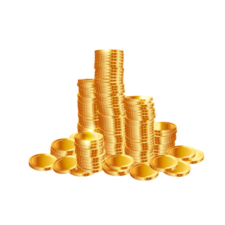 coin bank: Money coins. Vector
