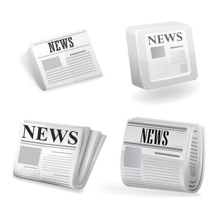 newspaper: Newspaper icon. Vector