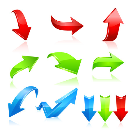 flecha: Icono de flecha conjunto. Vector
