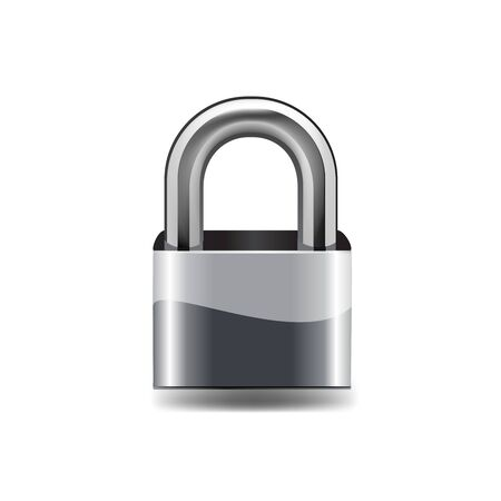 closed lock: Lock icon. on white background vector illustration.
