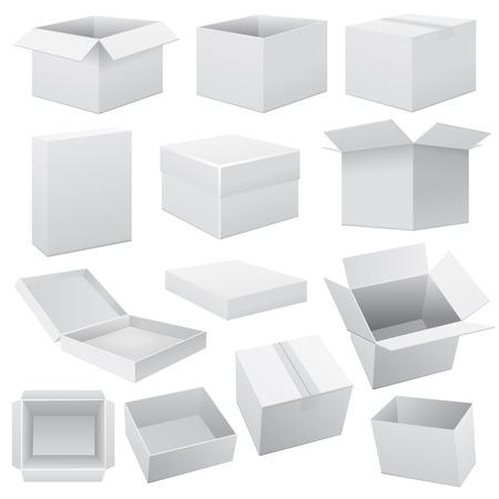 ボックス セット。白イラスト ベクター Web