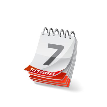 白地 10 eps のベクトルのカレンダーのイラスト。