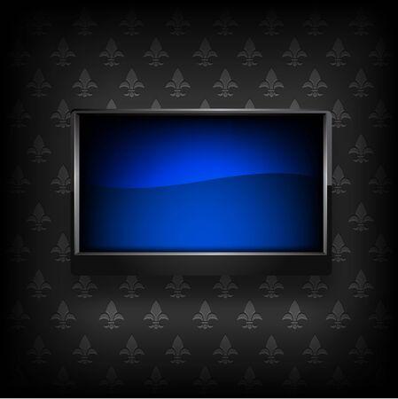 fullhd: Plasma LCD TV on background vector