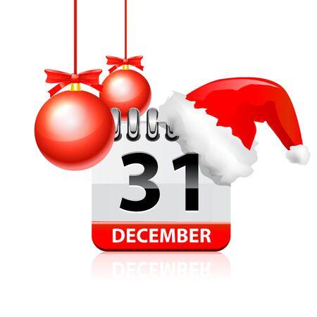 Christmas calendar. Vector illustration on white background