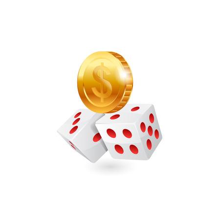 toke: Casino icon. Vector illustration on white background