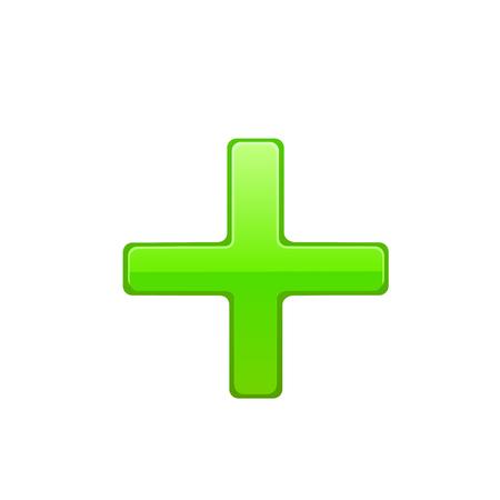 green cross: Green cross. Vector illustration on white background.