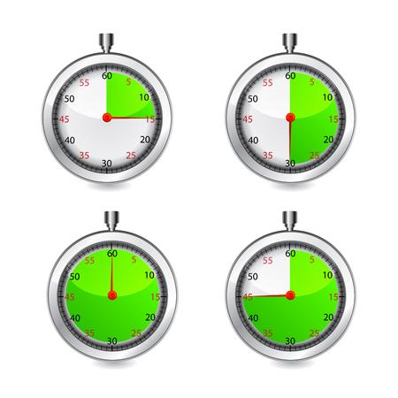 metering: Set of timers illustration on white background. Illustration