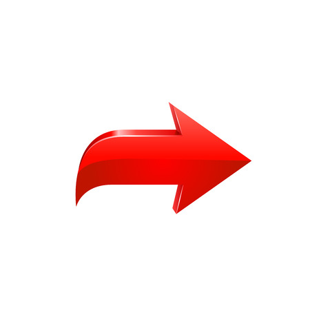 vector arrow: Red arrow. Vector illustration on white background