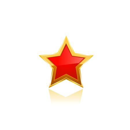 jewell: red vector star on white background 10 eps Stock Photo