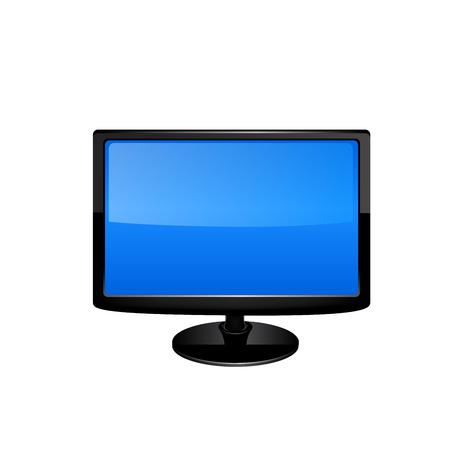 fullhd: Plasma LCD TV vector illustration on white background