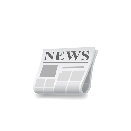 newsprint: Newspaper icon vector illustration on white background. Illustration