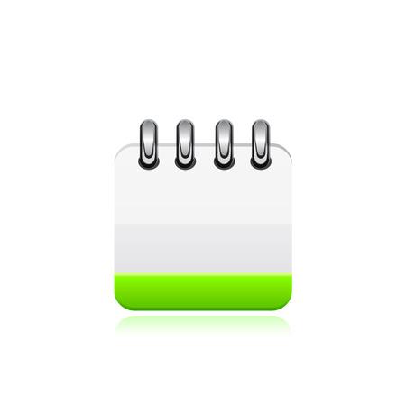 backgroud: Vector calendar illustration on white backgroud isolated. Illustration