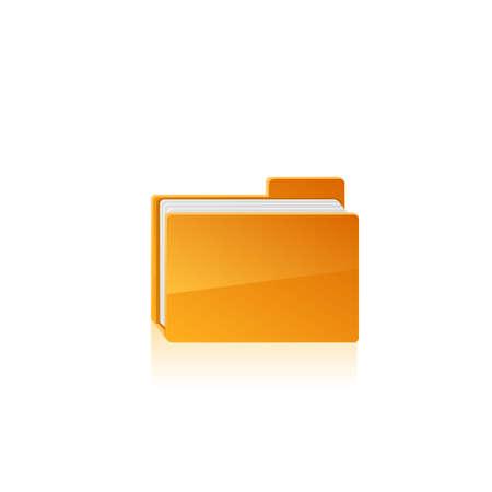 dir: Yellow folder. Vector illustration on white background