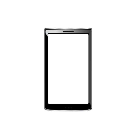 desgn: smartphone on white. Original desgn. Vector 10 eps Illustration