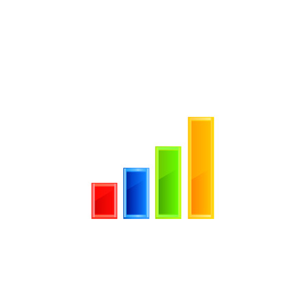 high up: Stats icon. Vector illustration on white background.
