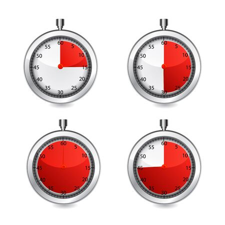 stop watch: Vector stop watch, realistic illustrationn on white icon